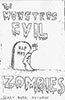 Evil Zombies tape insert